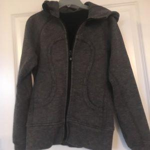 Lululemon scuba hoodie 4 EUC with spinner zip pull